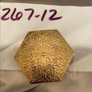 Gold Scarf Pendant